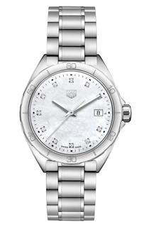 FORMULA 1 Кварцевые женские часы 35 мм с циферблатом из белого перламутра Tag Heuer