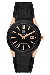 CARRERA Кварцевые женские часы с золотисто-черным циферблатом TAG Heuer