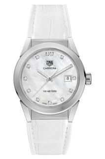 CARRERA Кварцевые женские часы с циферблатом из белого перламутра Tag Heuer