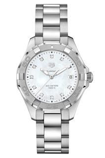 AQUARACER Кварцевые женские часы с циферблатом из перламутра Tag Heuer
