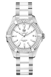 AQUARACER Кварцевые женские часы с бриллиантами Tag Heuer