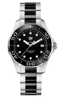 AQUARACER Кварцевые женские часы с черным циферблатом Tag Heuer