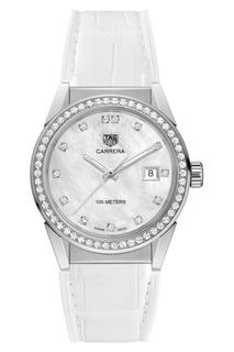 CARRERA Кварцевые женские часы с перламутром и бриллиантами Tag Heuer