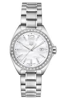 FORMULA 1 Кварцевые женские часы с белым перламутровым циферблатом TAG Heuer