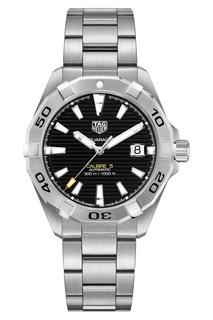 AQUARACER Calibre 5 Автоматические мужские часы из стали с черным циферблатом Tag Heuer