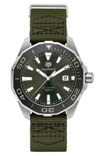 AQUARACER Кварцевые мужские часы цвета хаки Tag Heuer