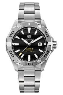 AQUARACER Calibre 5 Автоматические мужские часы с черным циферблатом Tag Heuer