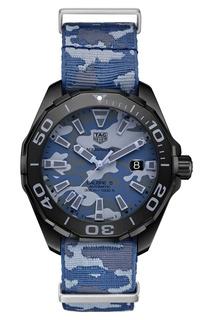 AQUARACER Calibre 5 Автоматические мужские часы с камуфляжным ремешком TAG Heuer