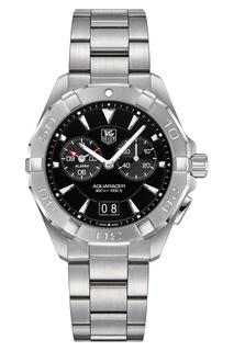 AQUARACER Кварцевые мужские часы из стали с черным циферблатом Tag Heuer