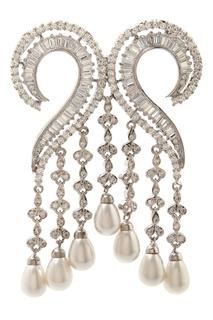 Кулон с цирконами Pearl Drops Jewel Mania
