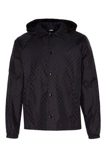 Черная куртка с монограммами Gucci Man