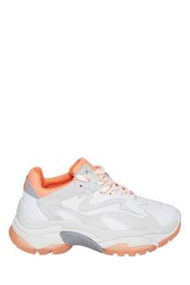 Оранжево-белые кроссовки Addict Ash