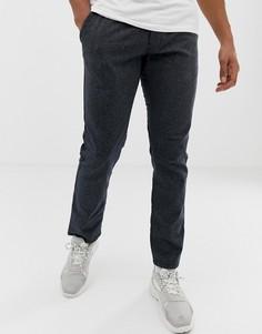 Узкие темно-серые чиносы с затягивающимся шнурком на поясе Esprit - Серый