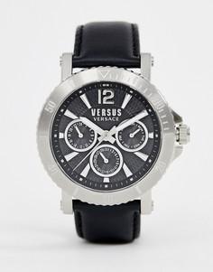 Часы с черным кожаным ремешком Versus Versace Steenburg SP5202 0018 - Черный