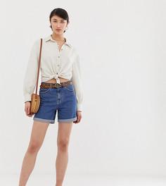 Шорты в винтажном стиле с завышенной талией Vero Moda Tall - Синий