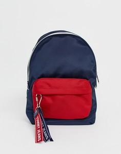 Мини-рюкзак из переработанного полиэстера с логотипом на ленте Tommy Jeans - Темно-синий