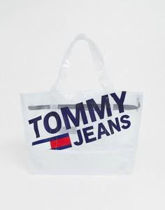 Сумка-шоппер с логотипом Tommy Jeans - Белый