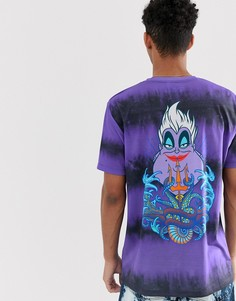 Фиолетовая свободная футболка с принтом тай-дай и надписью The Little Mermaid ASOS DESIGN - Фиолетовый
