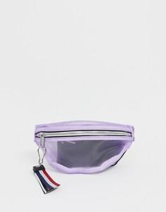 Сетчатая сумка-кошелек с фирменной лентой Tommy Jeans - Фиолетовый
