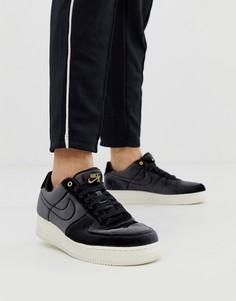 Черные кроссовки с бархатной отделкой Nike Air Force 1 07 - Черный