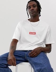 Белая футболка с логотипом на груди Globe Bar - Белый