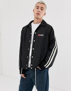Черная куртка с логотипом и суженными рукавами Diesel J-Akito - Черный