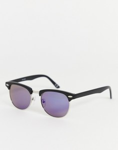 Синие солнцезащитные очки в стиле ретро с зеркальными стеклами ASOS DESIGN - Синий