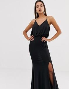 Платье с бретелями-цепочками Forever Unique - Черный