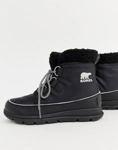 Черные непромокаемые ботинки с флисовой подкладкой Sorel Explorer Carnival - Черный