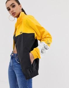 Свитшот колор блок (желтый/черный) adidas Originals - Черный
