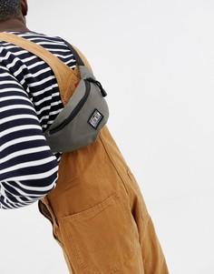 Темно-серая сумка-кошелек на пояс с логотипом Globe - Серый