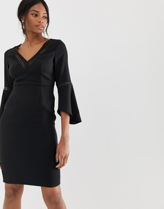 Платье с расклешенными рукавами Paper Dolls - Черный