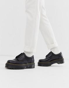 Черные туфли на платформе Dr Martens 8053 Quad - Черный