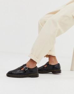 Черные плетеные босоножки Dr Martens - Черный