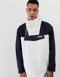 Белая куртка с темно-синими вставками Napapijri Tribe Skidoo - Мульти