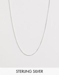 Короткое серебряное колье ASOS DESIGN - Серебряный