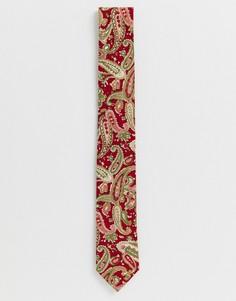 Красный галстук с узором пейсли Religion - Красный