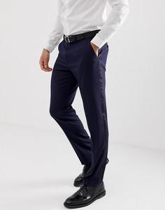 Темно-синие брюки слим под смокинг ASOS DESIGN - Темно-синий