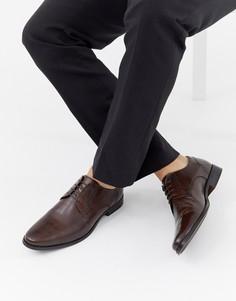 Коричневые кожаные туфли дерби ASOS DESIGN - Коричневый
