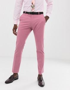 Розовые брюки слим Selected Homme - Розовый