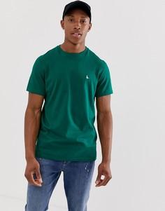 Темно-зеленая футболка с логотипом Jack Wills Sandleford - Зеленый