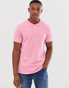 Светло-розовая футболка-поло с логотипом Jack Wills Aldgrove - Розовый