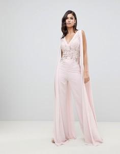 Кружевной комбинезон с оборками Forever Unique - Розовый