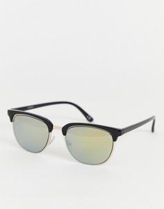 Солнцезащитные очки с зелеными стеклами ASOS DESIGN - Золотой