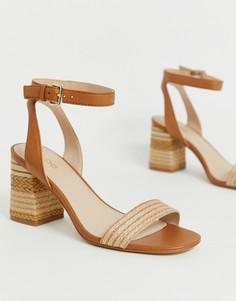 Светло-коричневые босоножки на каблуке ALDO Gweilian - Рыжий
