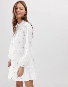 Платье с цветочной вышивкой Stevie May Delerium - Белый