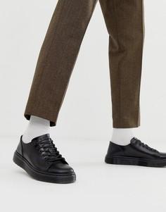 Черные кроссовки с 6 парами люверсов Dr Martens Dante - Черный