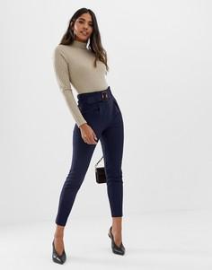 Узкие брюки с поясом Lipsy - Черный