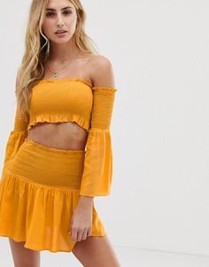 Эксклюзивный желтый пляжный комбинируемый комплект Akasa - Желтый