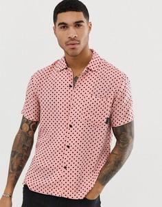 Рубашка в горошек розового цвета с отложным воротником Religion - Розовый